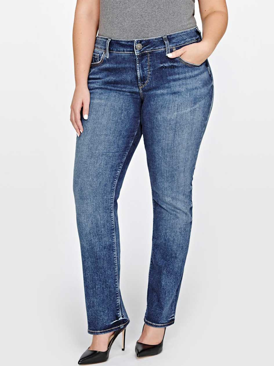 Silver Suki Straight Denim