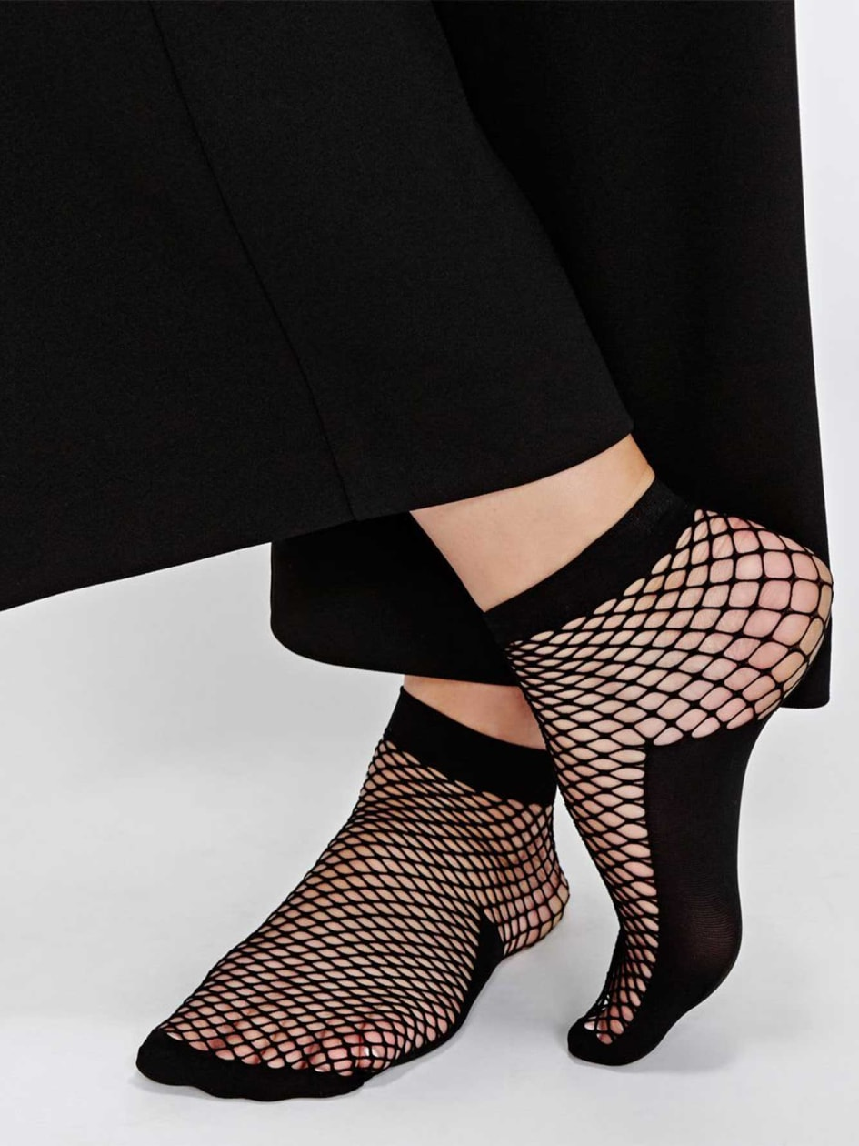 Plus size Fish net socks