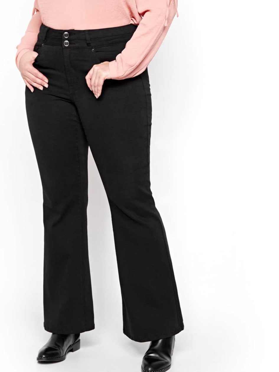 L&L Double Flare Black Denim Pants