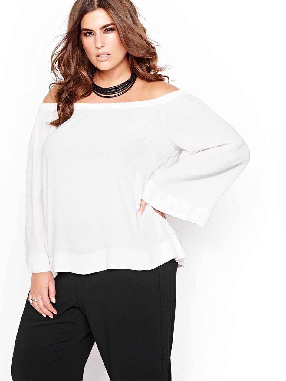 Rachel Roy Off-The-Shoulder Blouse