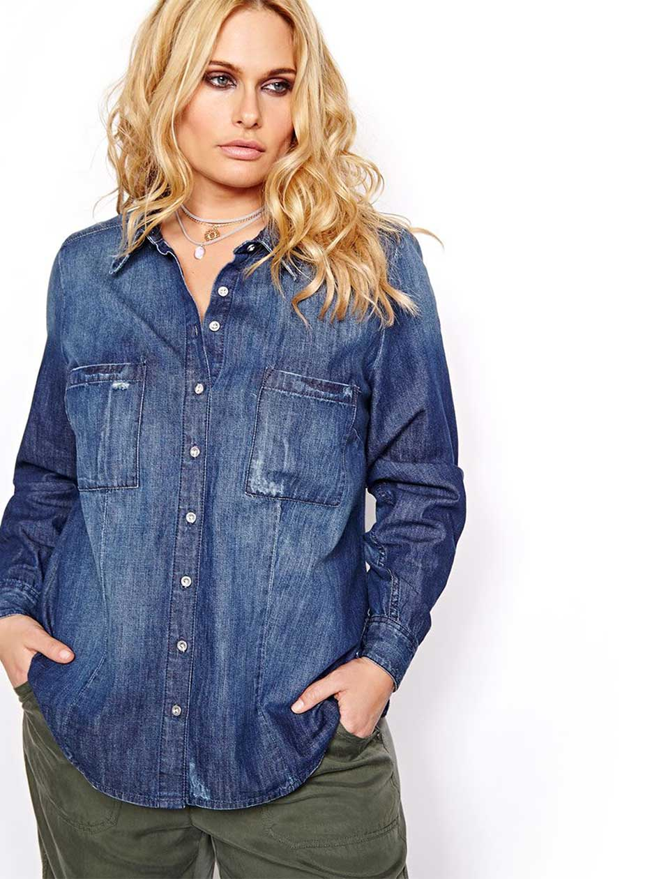 L&L Button Down Denim Shirt