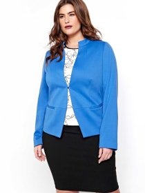 Michel Studio Long-Sleeved Semi Fitted Blazer