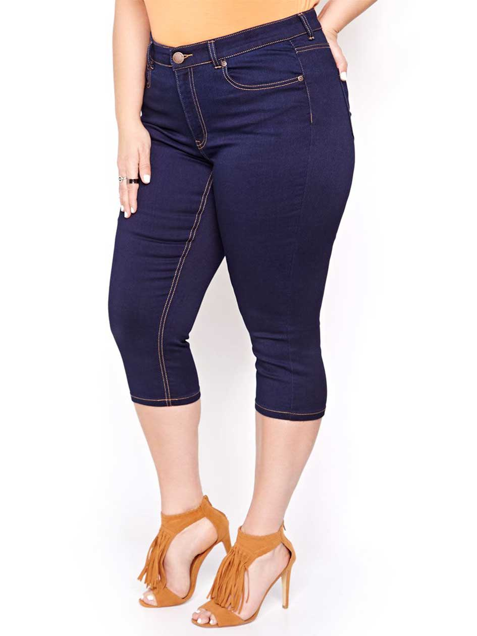 L&L Super Soft Dark High Rise Capri Jeggings