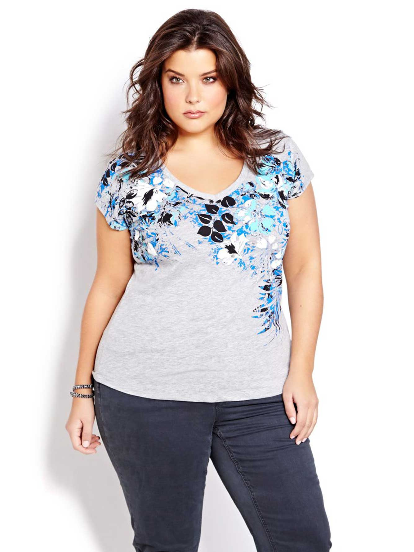 Short Sleeve Printed T Shirt Addition Elle