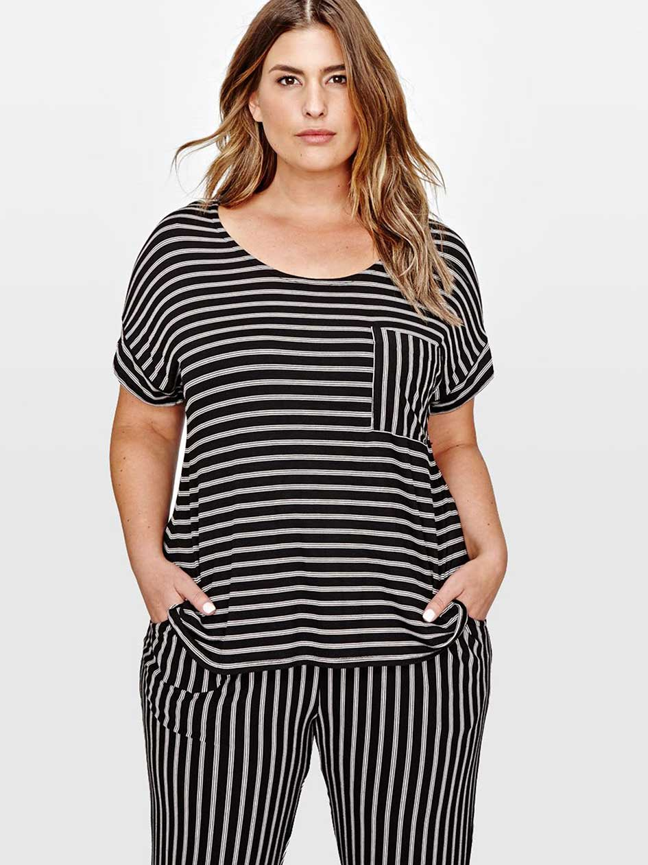 Striped PJ Top