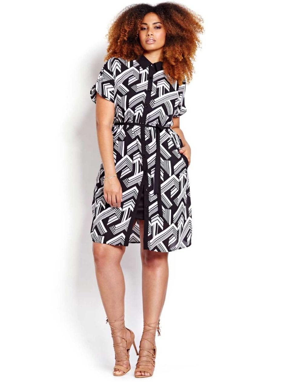 Michel Studio Short Sleeve Shirt Dress