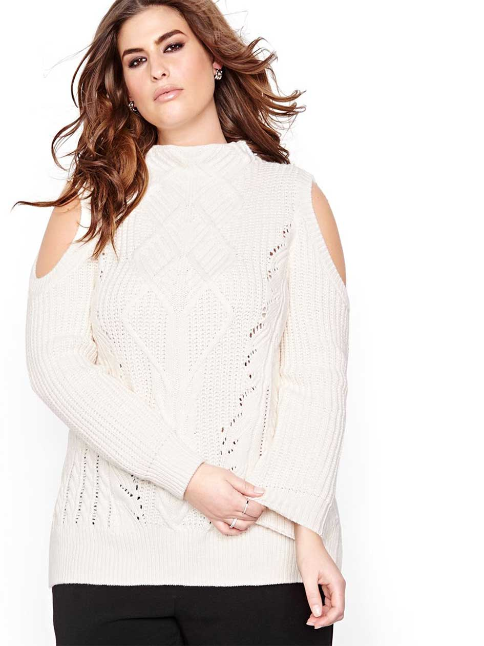 Rachel Roy Cold Shoulder Sweater
