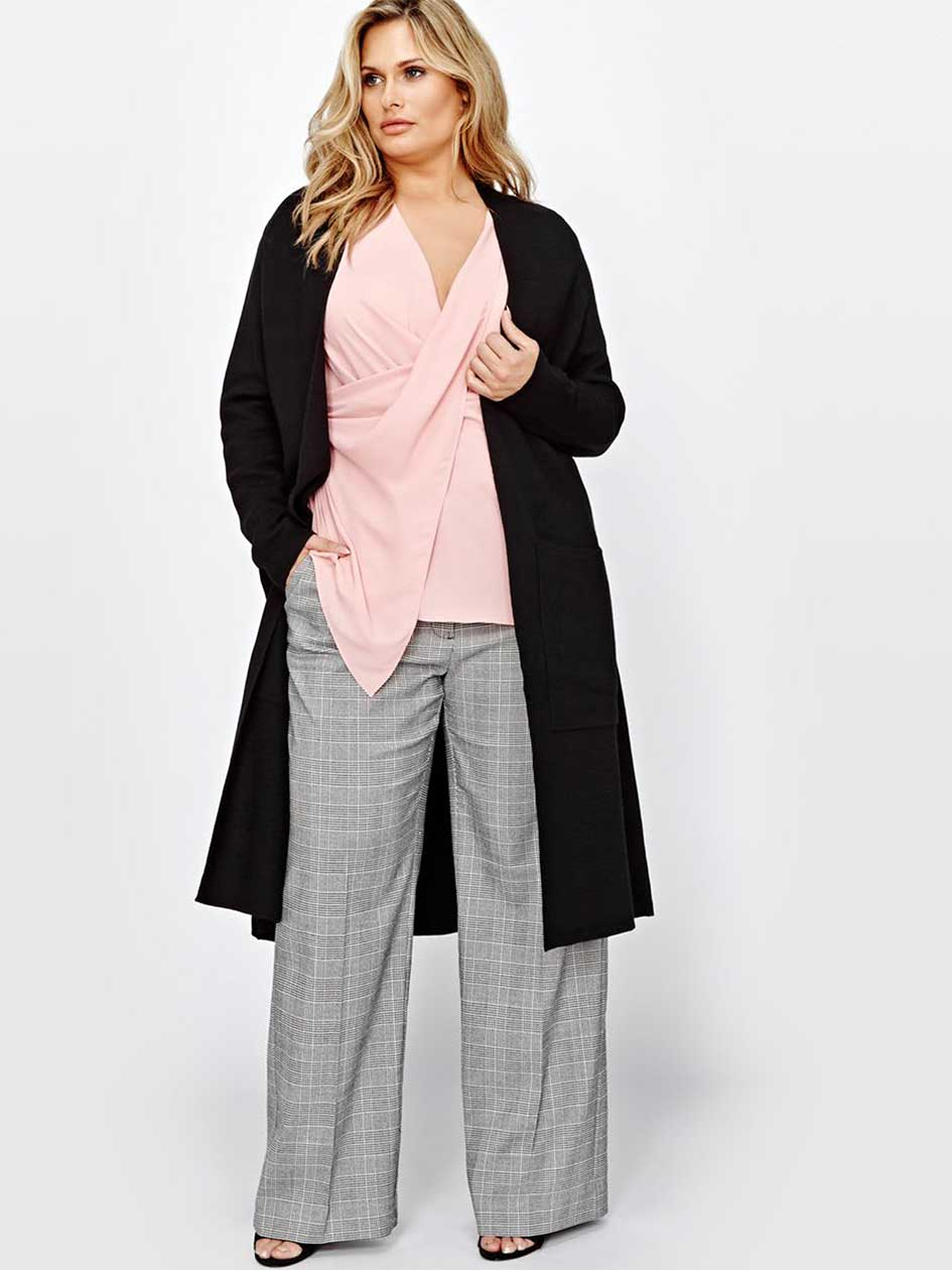 Michel Studio Long Sleeve Duster