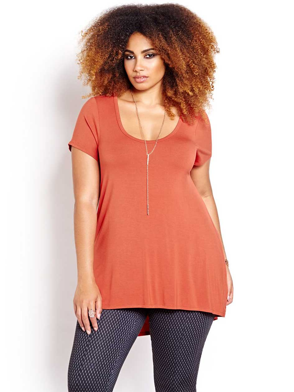 Michel Studio High Low Hem Tee