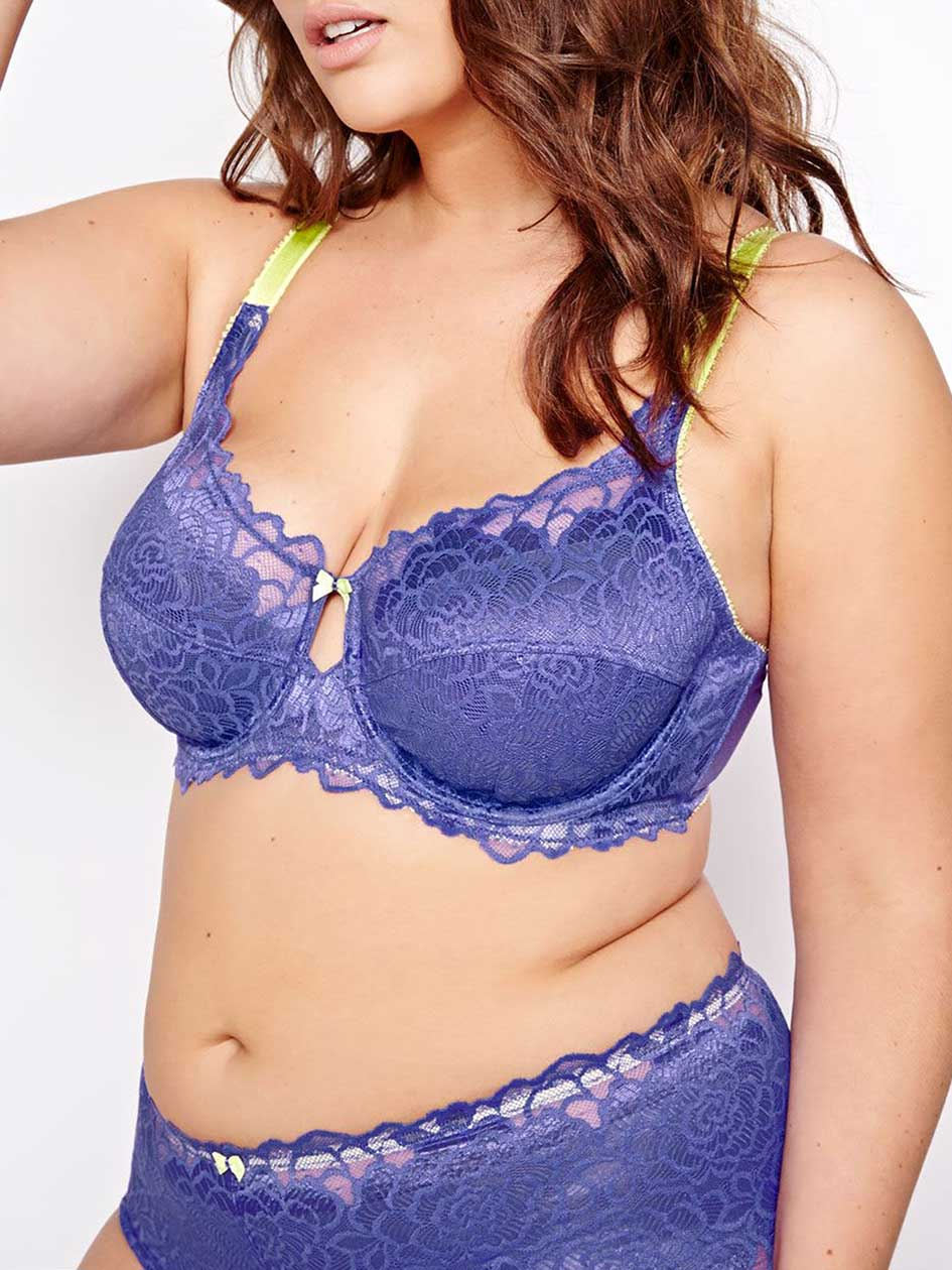 Femme Couture Bra with Lime Straps - Déesse Collection