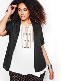 Michel Studio Short Sleeve Cardigan