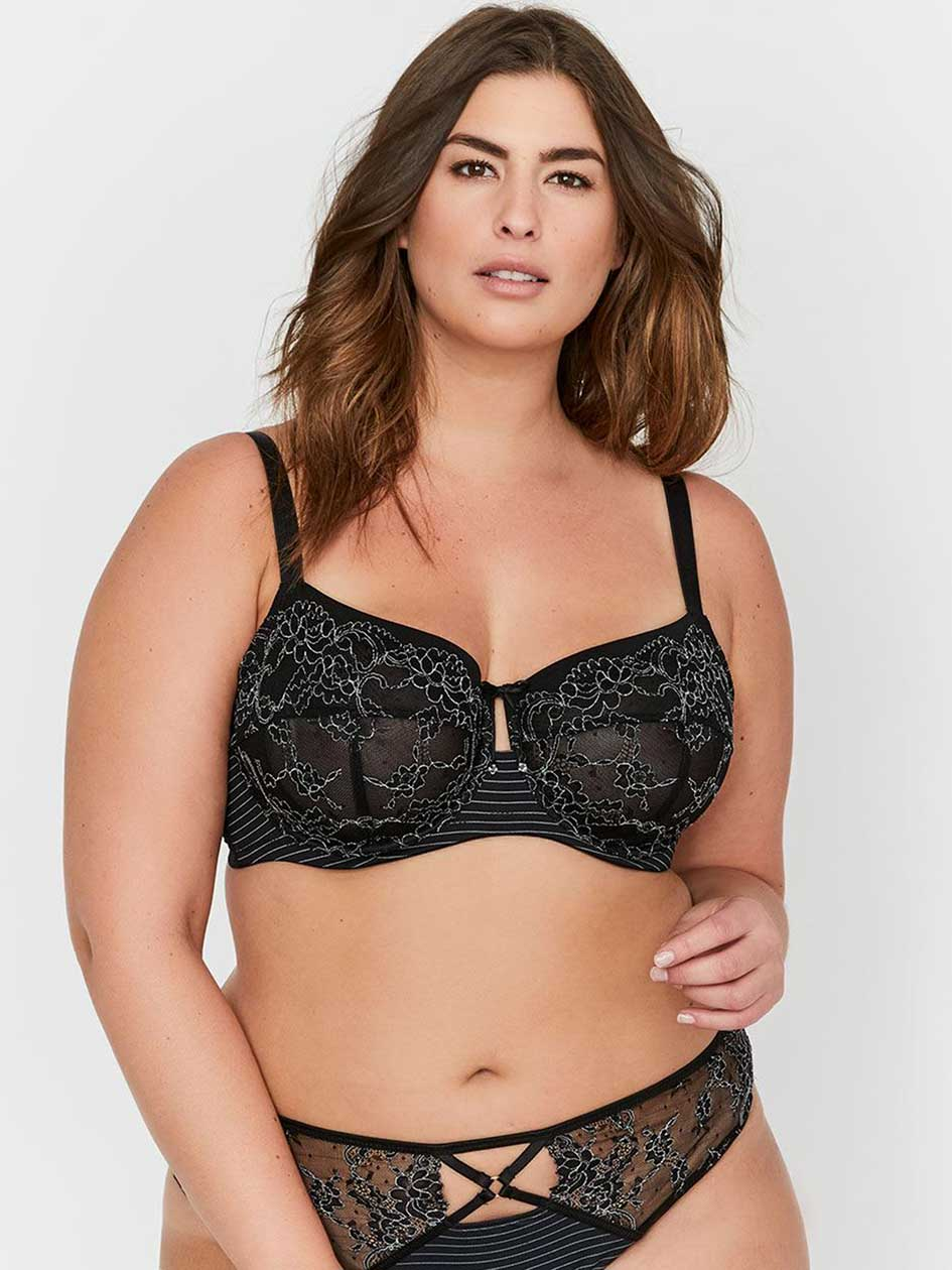 Soutien-gorge Attraction Fatale non coussiné à coutures Ashley Graham, tailles G et H