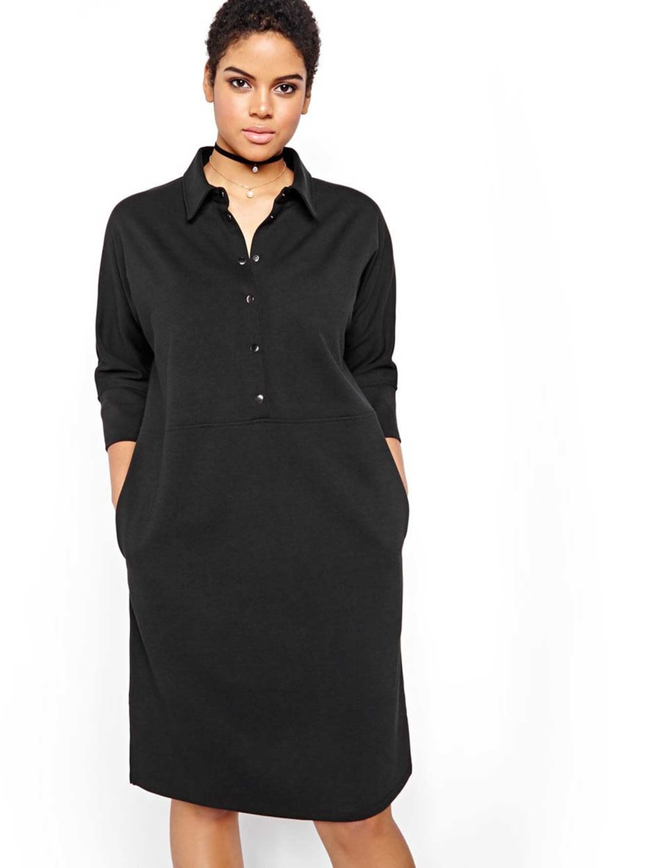 Michel Studio Button Front Shift Dress
