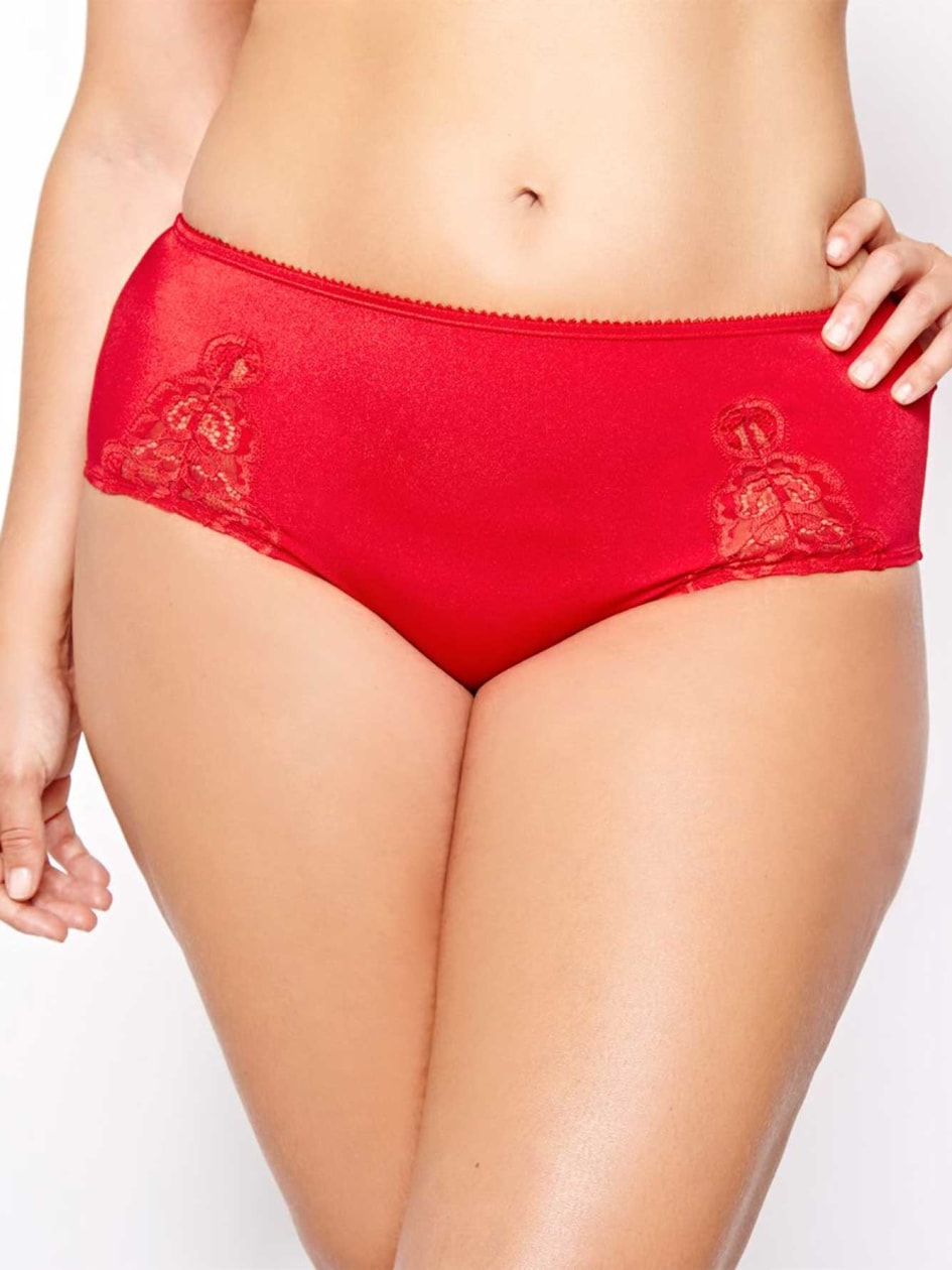 Panty with Lace Inserts - D�esse Collection.quiet grey.4X