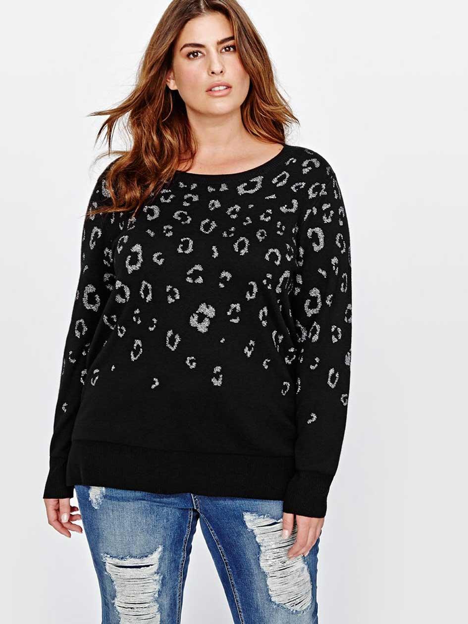 L&L Lurex Leopard Sweater