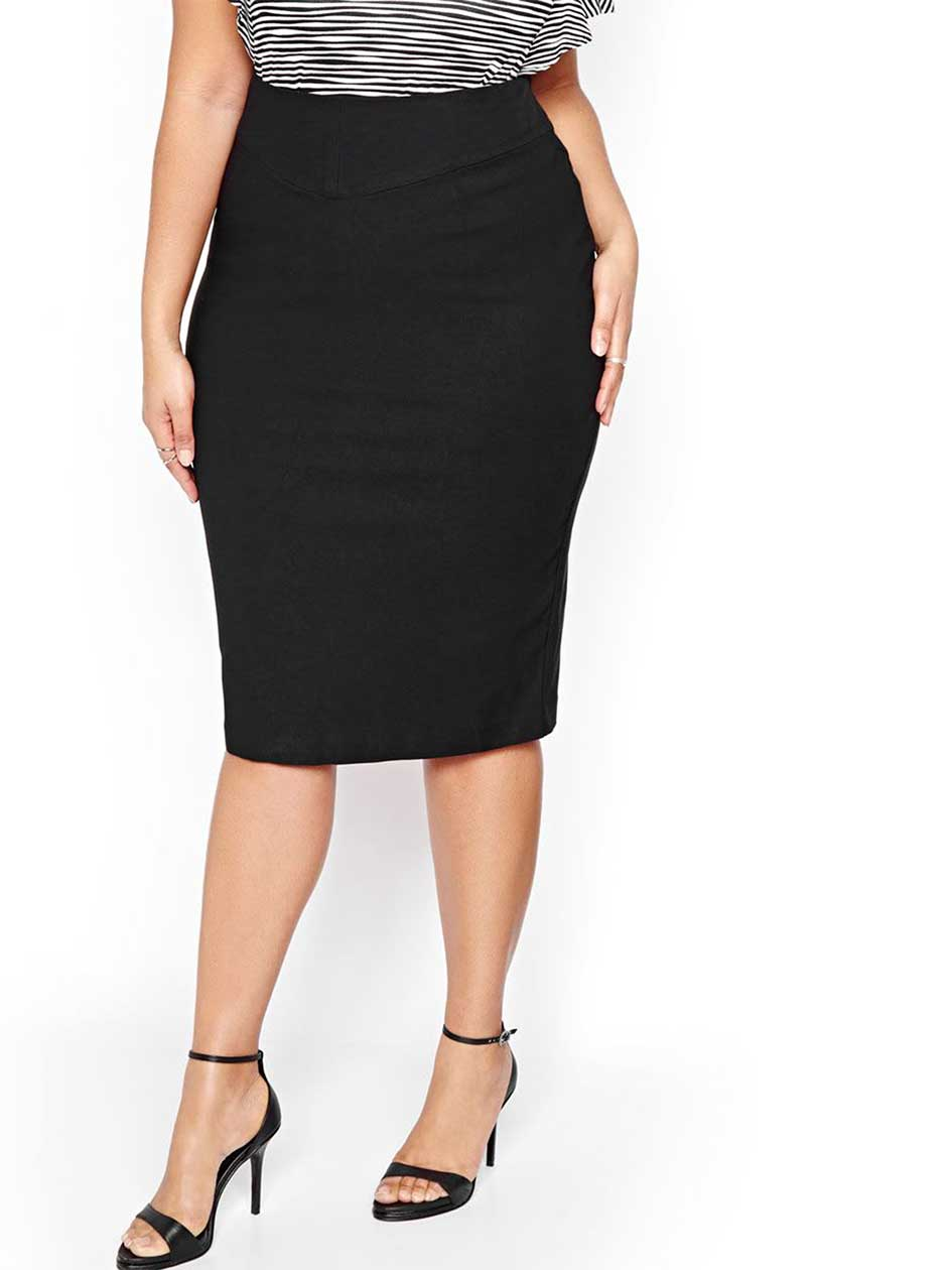 Michel Studio Solid Pencil Skirt