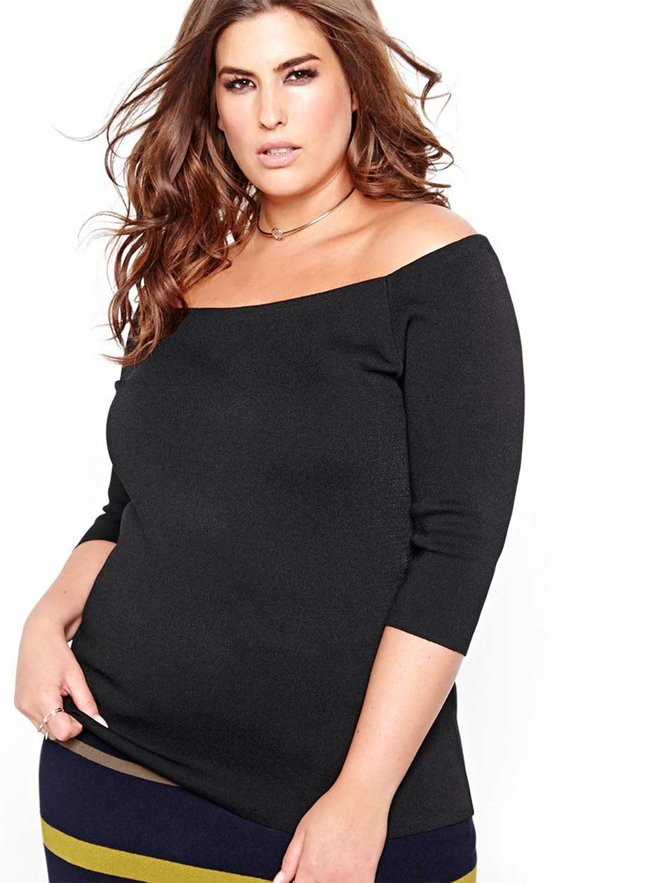 Rachel Roy Off The Shoulder Fitted Top
