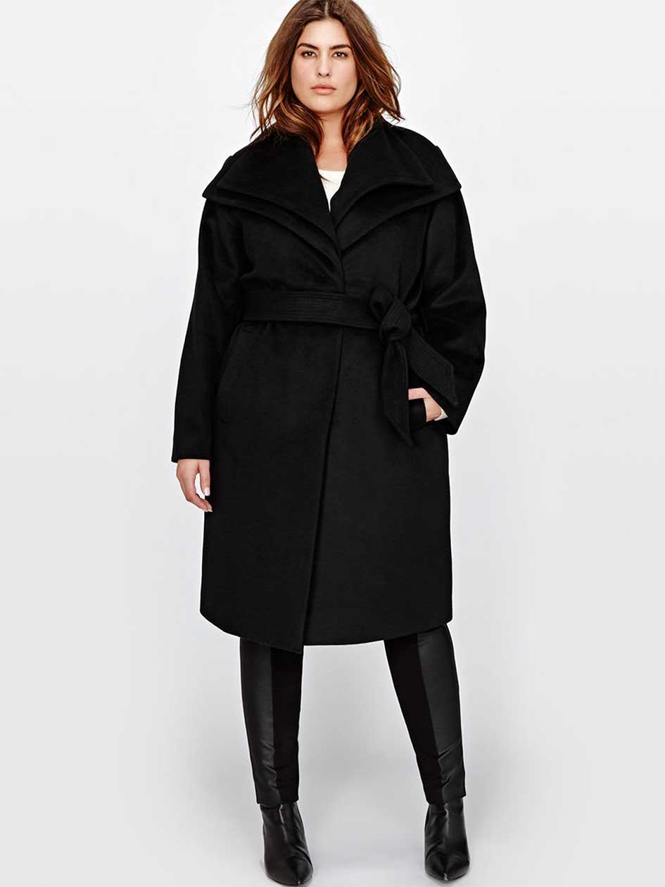 Marcona Wrap Wool Blend Coat