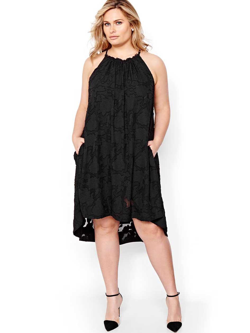 Rachel Roy Textured Halter Dress