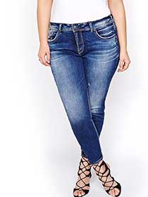 Silver Avery Ankle Skinny Jeans