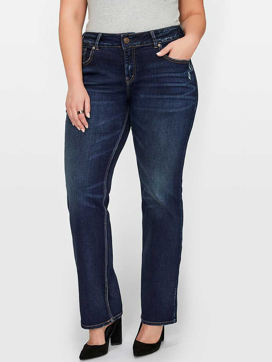 Silver Elyse Slim Boot Cut Jean