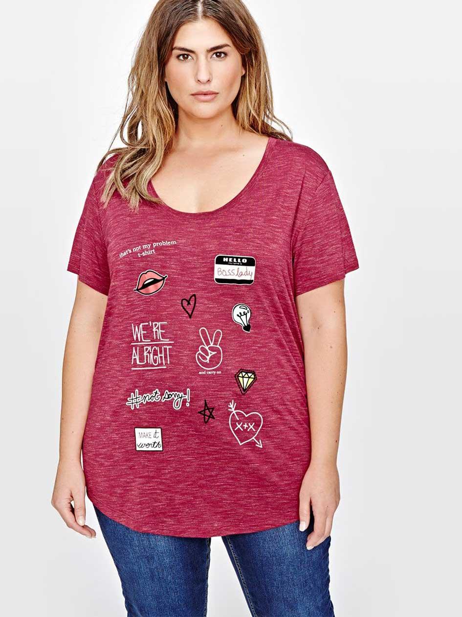 L&L Boyfriend Printed T-shirt