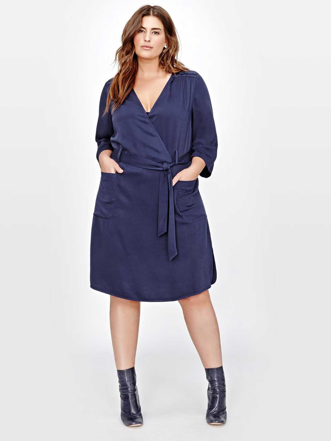 Michel Studio Dress with cross over neck | Addition Elle