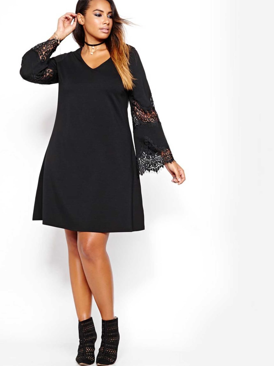 L&L Swing Dress with Bell Sleeves