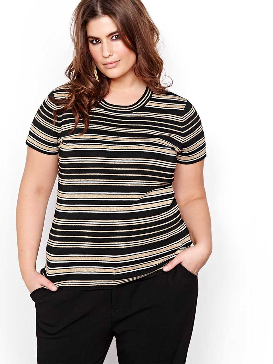 Rachel Roy Striped Sweater Tee