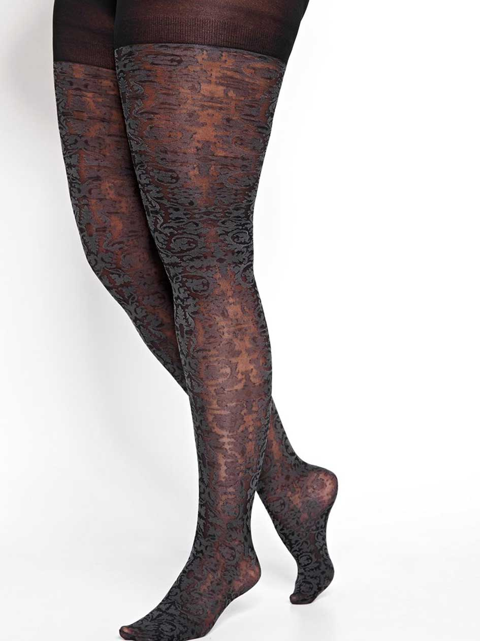 Tights with Baroque Pattern