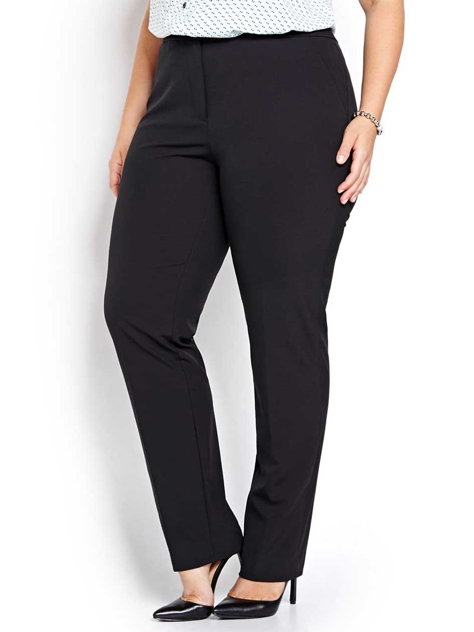 Slim Leg Pant with Modern Fabric & Piping Detail