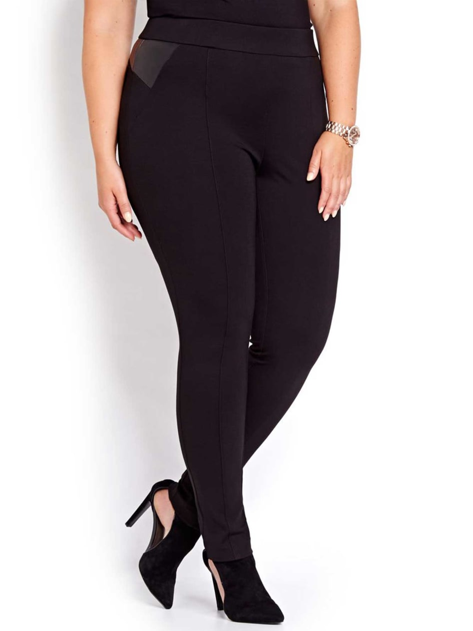Michel Studio Solid Taylor Legging with Pleather