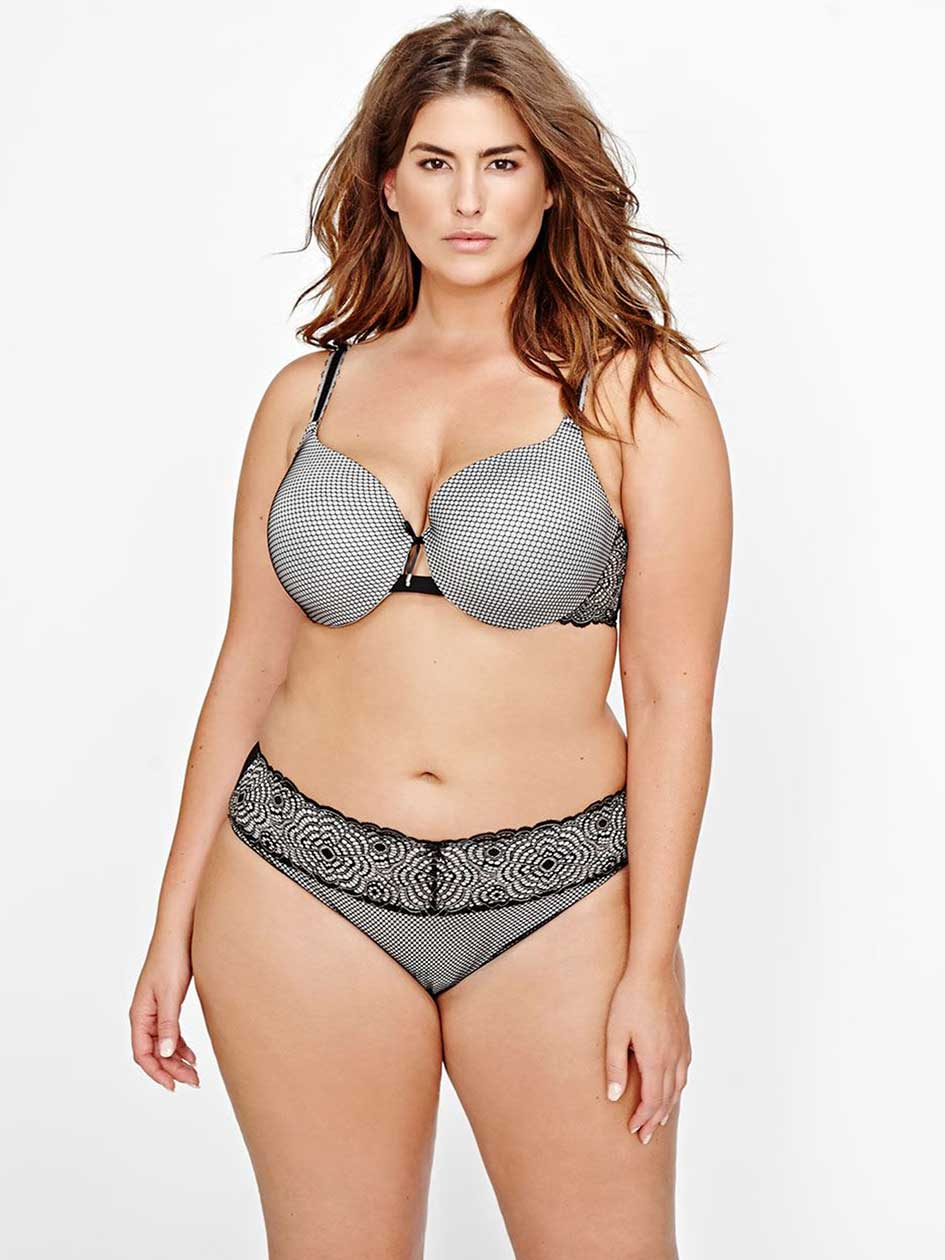 Ashley Graham Lace & Fishnet Icon Bra