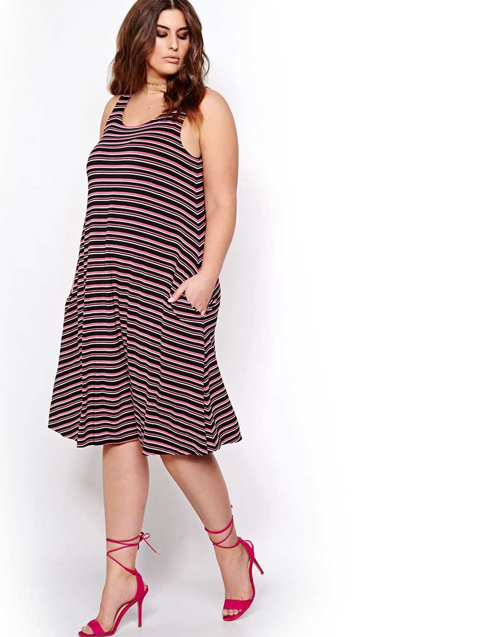 L&L Striped Swing Dress