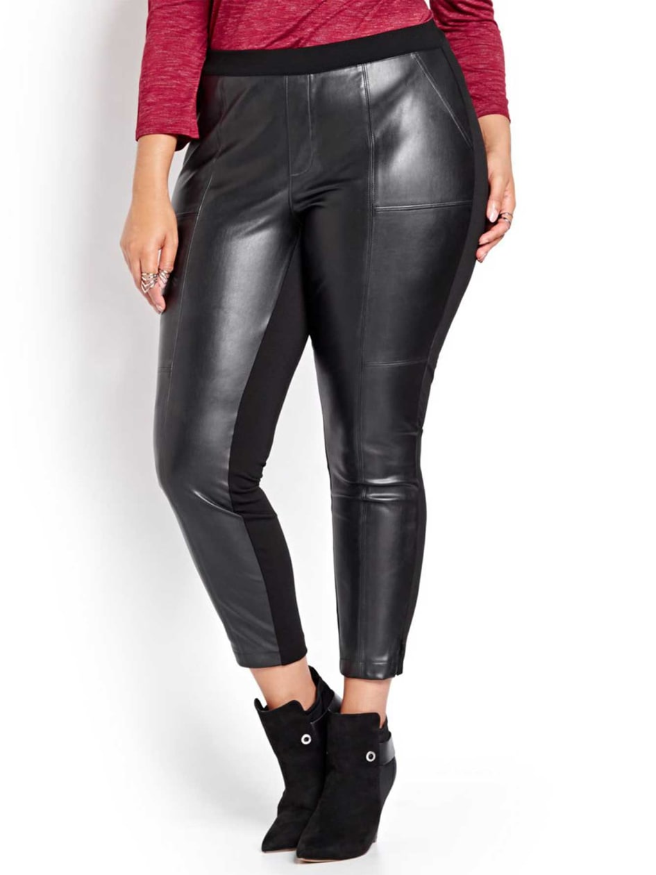 L&L Faux Leather and Ponte di Roma Legging