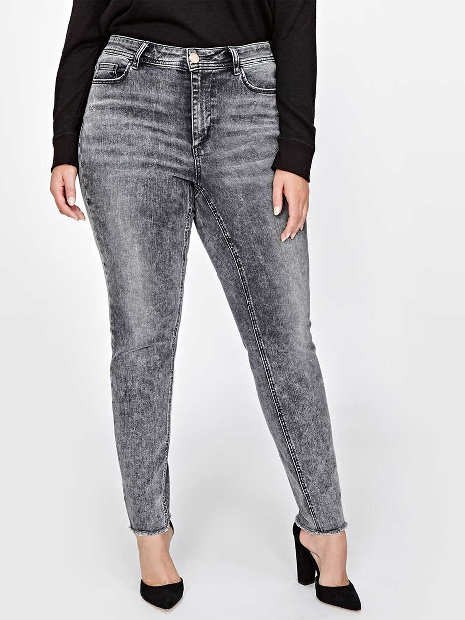 L&L Authentic Frayed Hem Skinny Denim