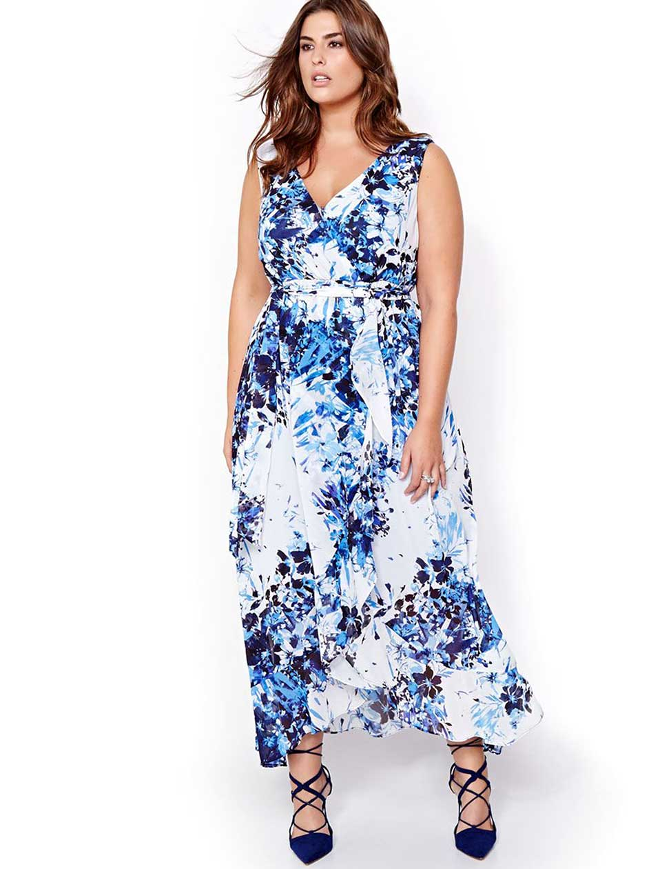 Sangria All-Over Printed Maxi Dress
