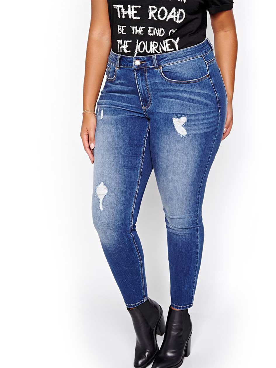 L&L Medium Wash Authentic Skinny Jeans