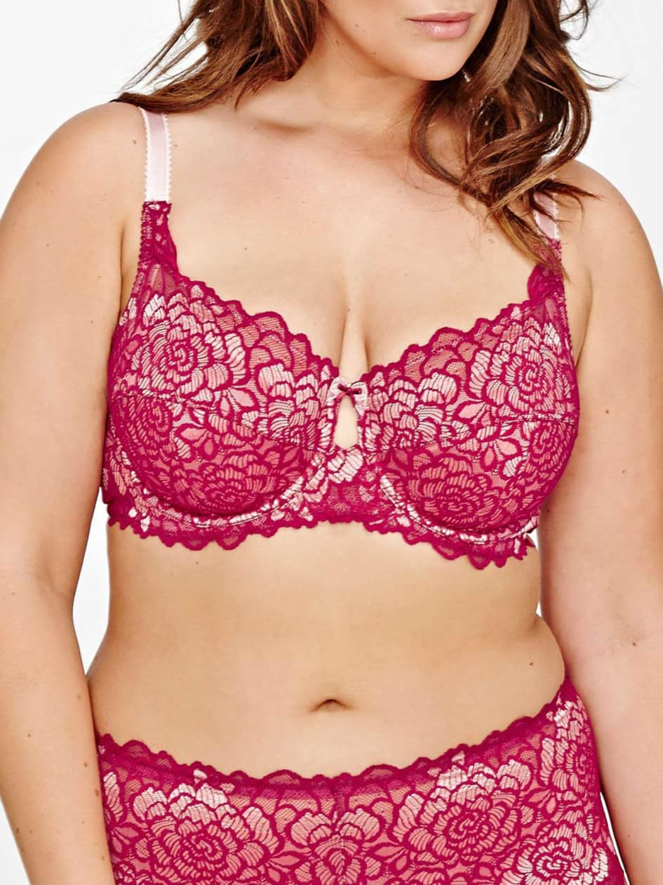 Femme Couture Scalloped Lace Overlay Bra - Déesse Collection