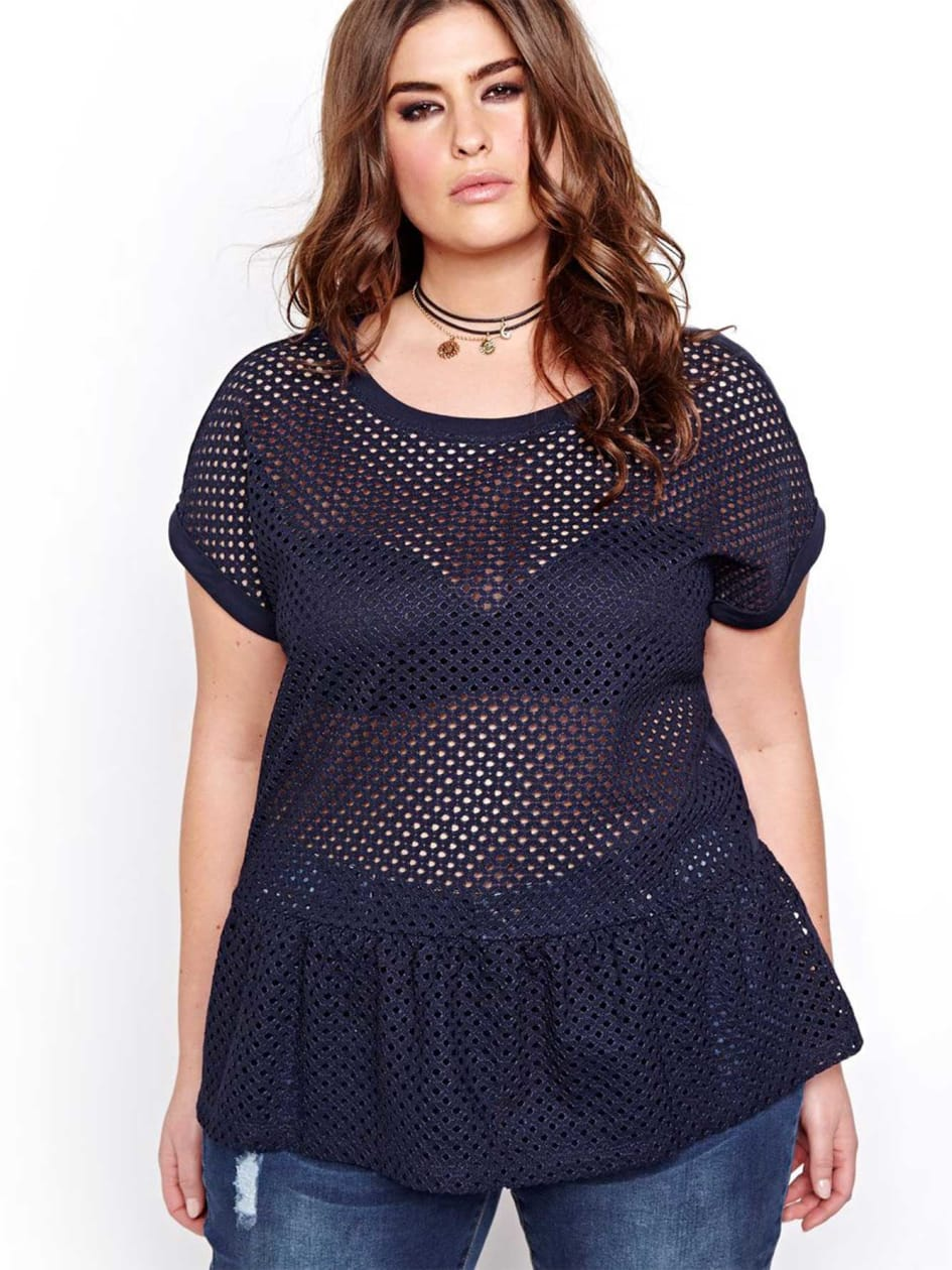L&L Lace Peplum Top