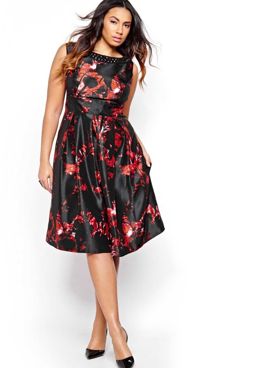 Fit & Flare Dress with Print
