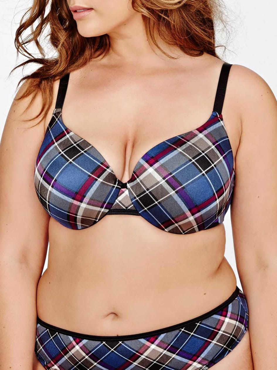 Déesse Plaid Flawless T-Ser Bra
