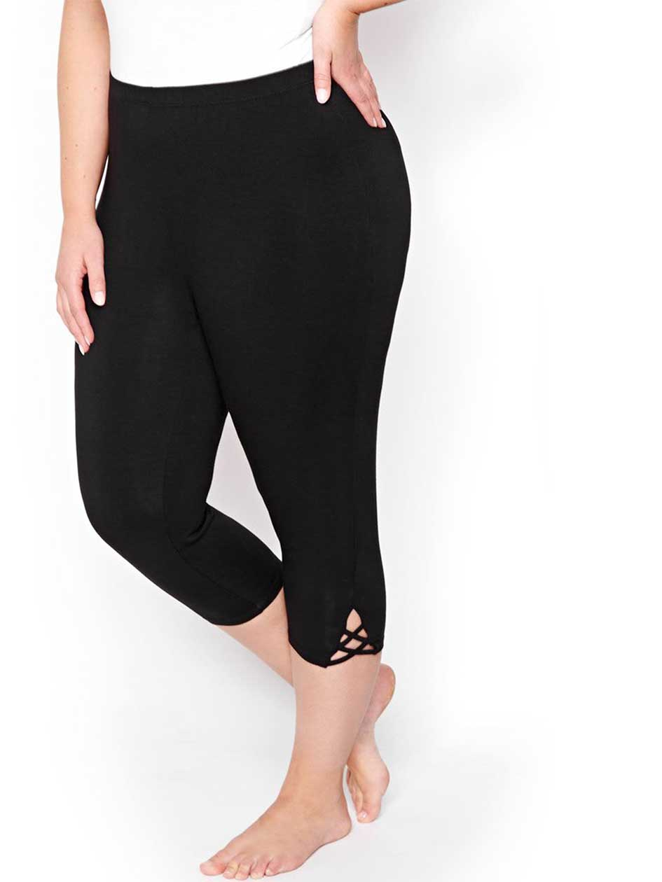 Capri Legging with V Insert - Déesse Collection