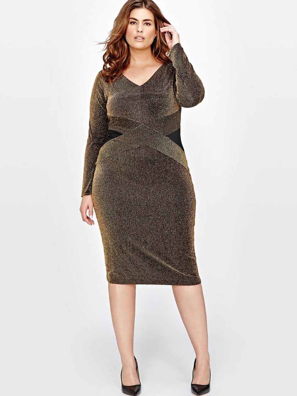 Rachel Roy Sparkle Knit Dress