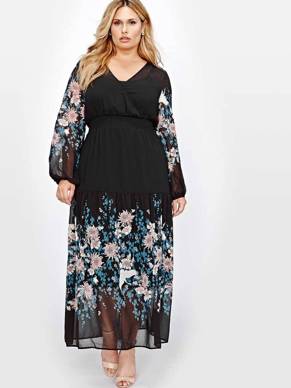 Michel Studio Flora Print Maxi Dress