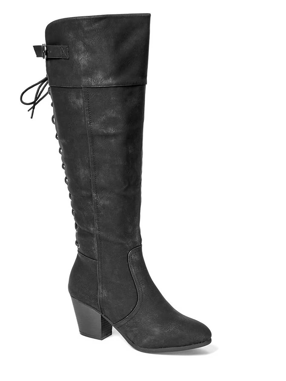 Kaitlyn Laced Back High Boot