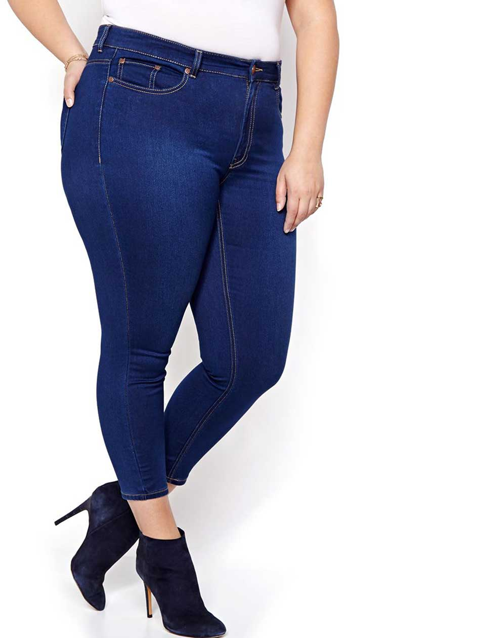 L&L Super Soft Blue Ankle Jegging