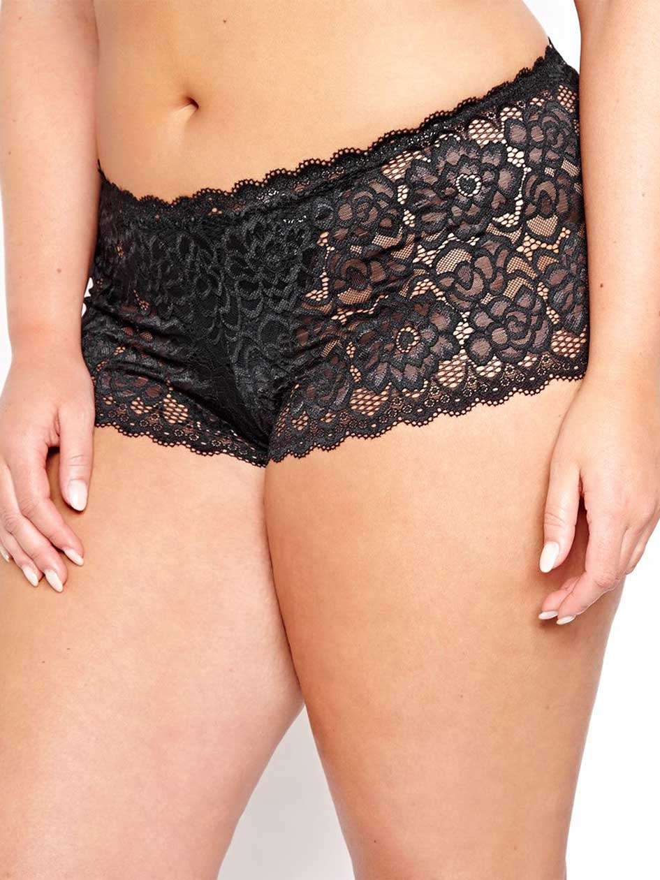 Solid Cheeky Brazilian Soft Lace Panty - Déesse Collection