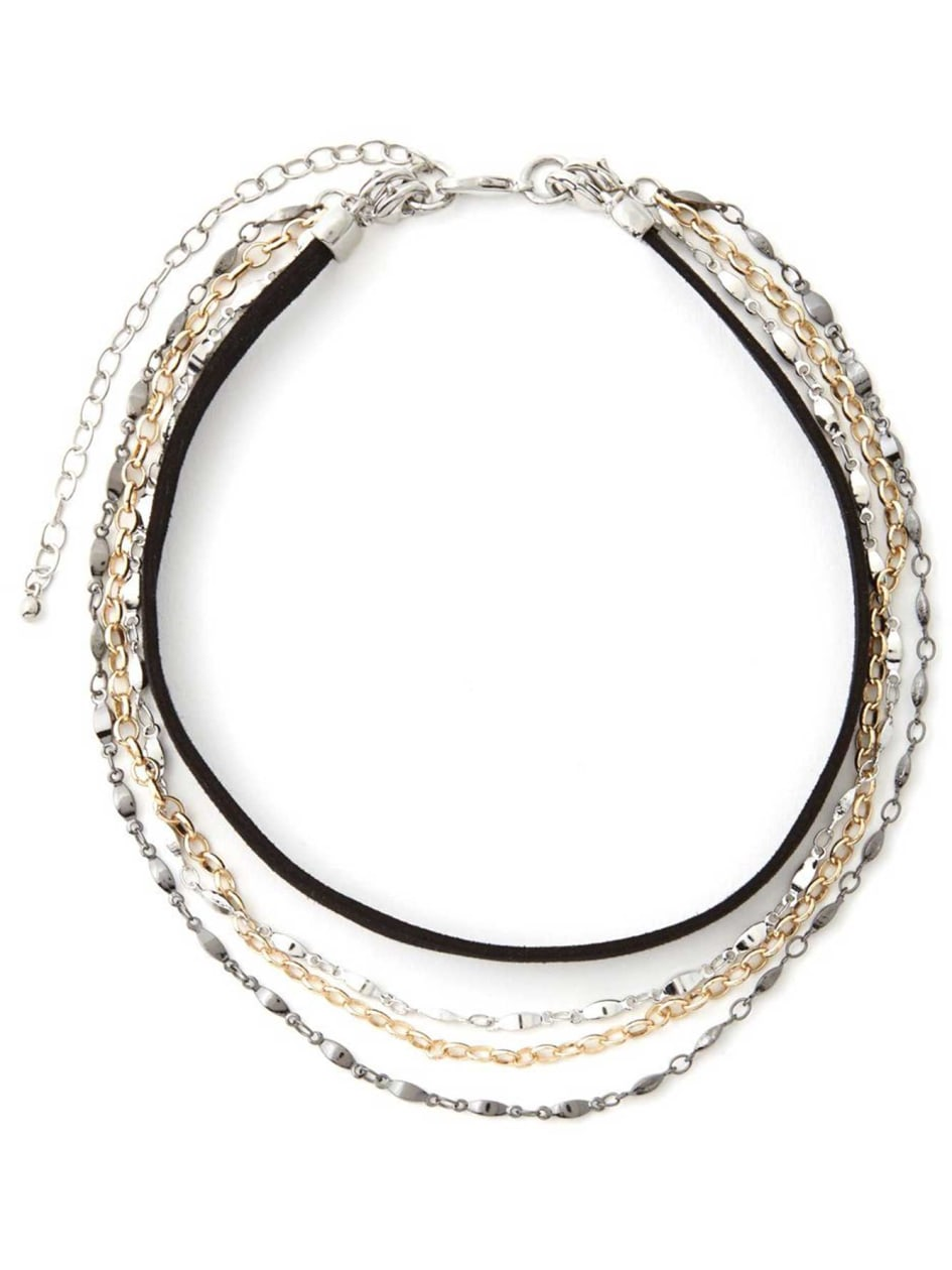 Collier ras-du-cou choker superposé convertible