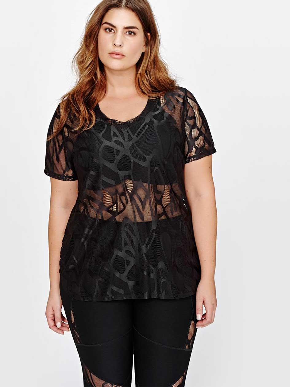 Nola Patterned Lace T-Shirt